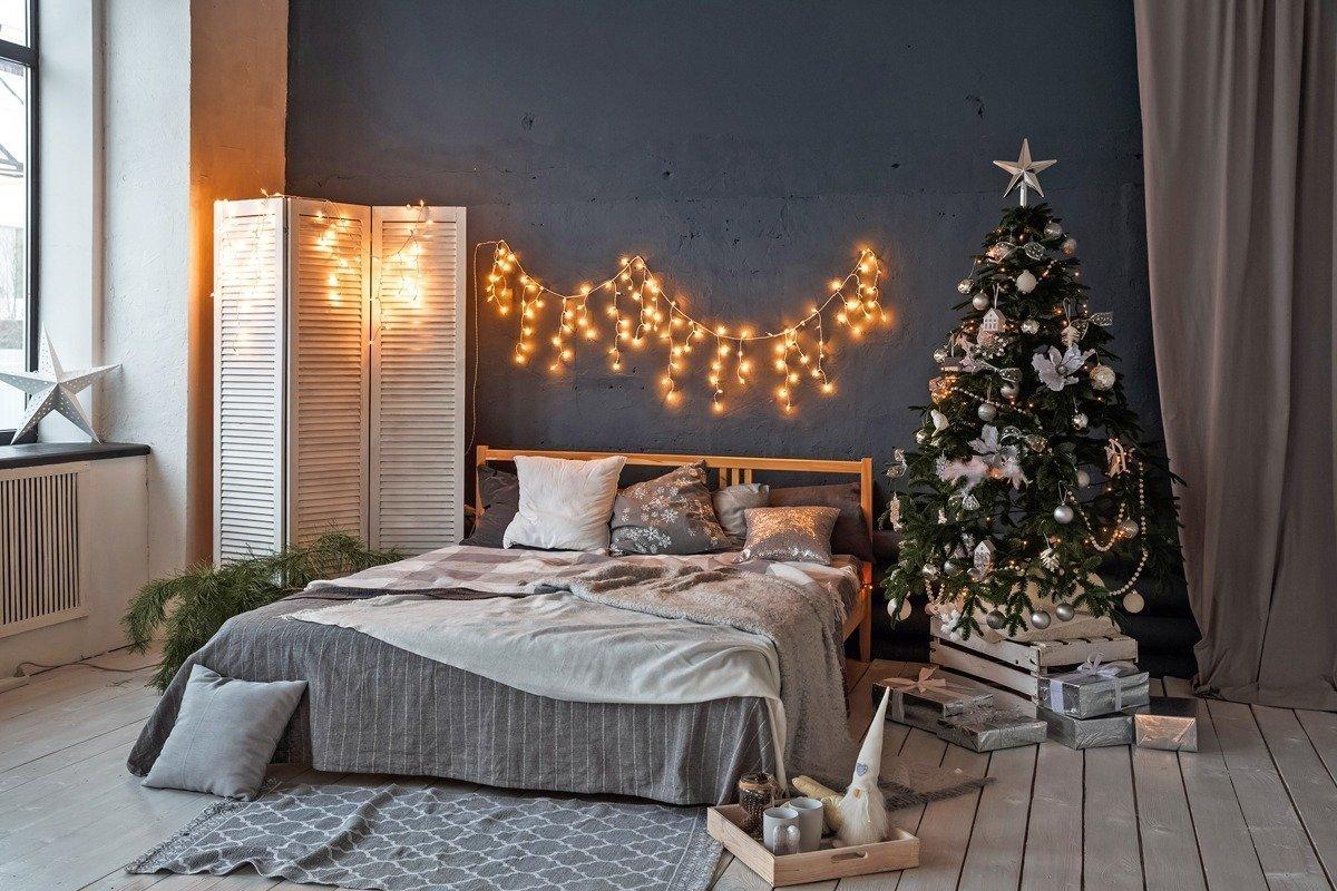 Iluminacion navideña en tu dormitorio