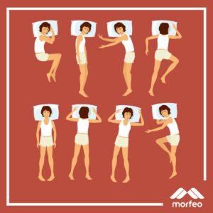 diferentes posturas para dormir
