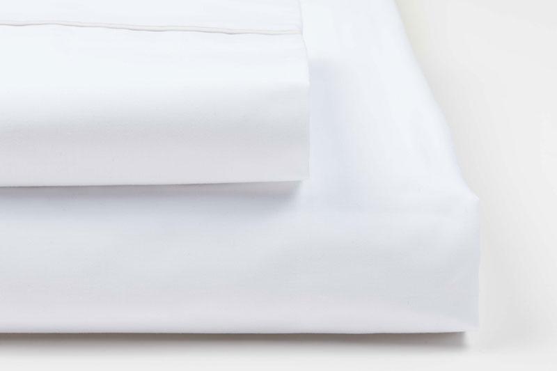 Sabanas blancas de algodon