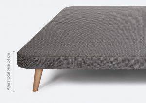 Altura de la base tapizada